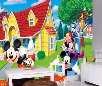 Kids Cartoon House Design Wallpaper