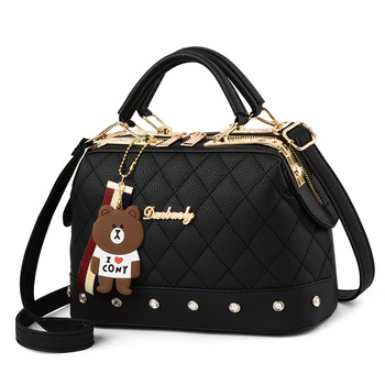 2020 Latest Design PU Material Fashion Satchels Style Women Bear Shoulder Bags Lady Hand Bags