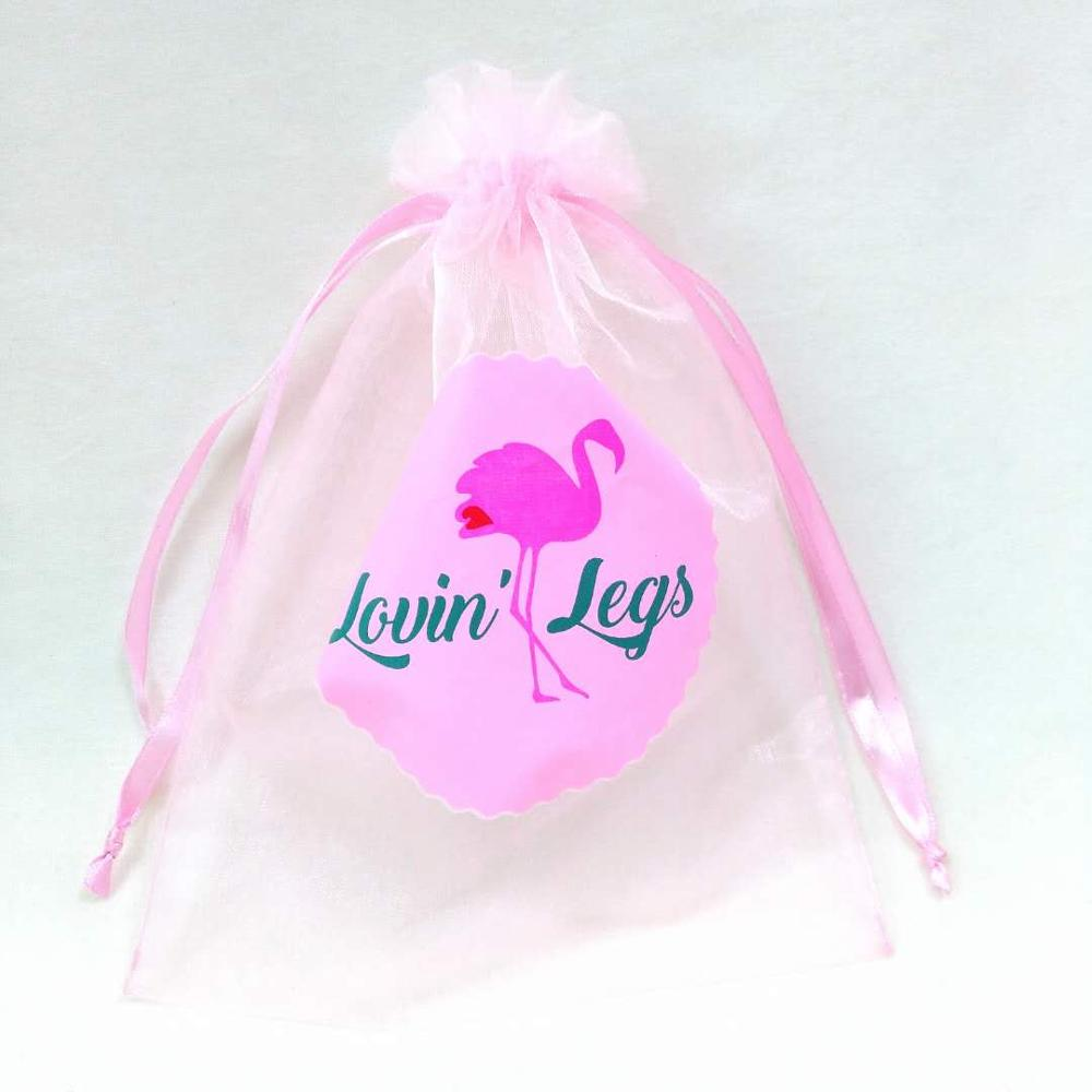 2019 Wholesale eco-friendly logo pink custom printed gift Drawstring organza bag with logo