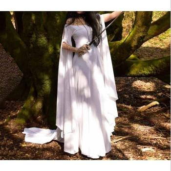 Summer Medieval Pixie Faerie Lace Dress Bohemian Gypsy Tribal Costume Plus Size
