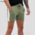 KY khaki Drawstring waistband Side stripe Functional pockets jersey skinny shorts in shorter length with side stripe