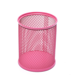 Cute Decorative mini mesh metal pen pencil holder