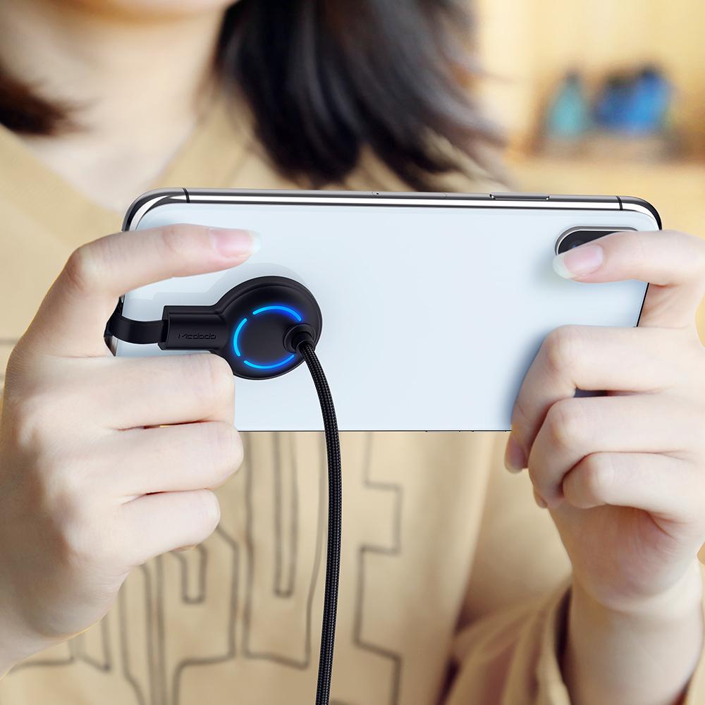 Mcdodo ручной удобный мобильный игровой кабель типа C QC3.0/QC4.0 с 7 видов цветов светодиодами