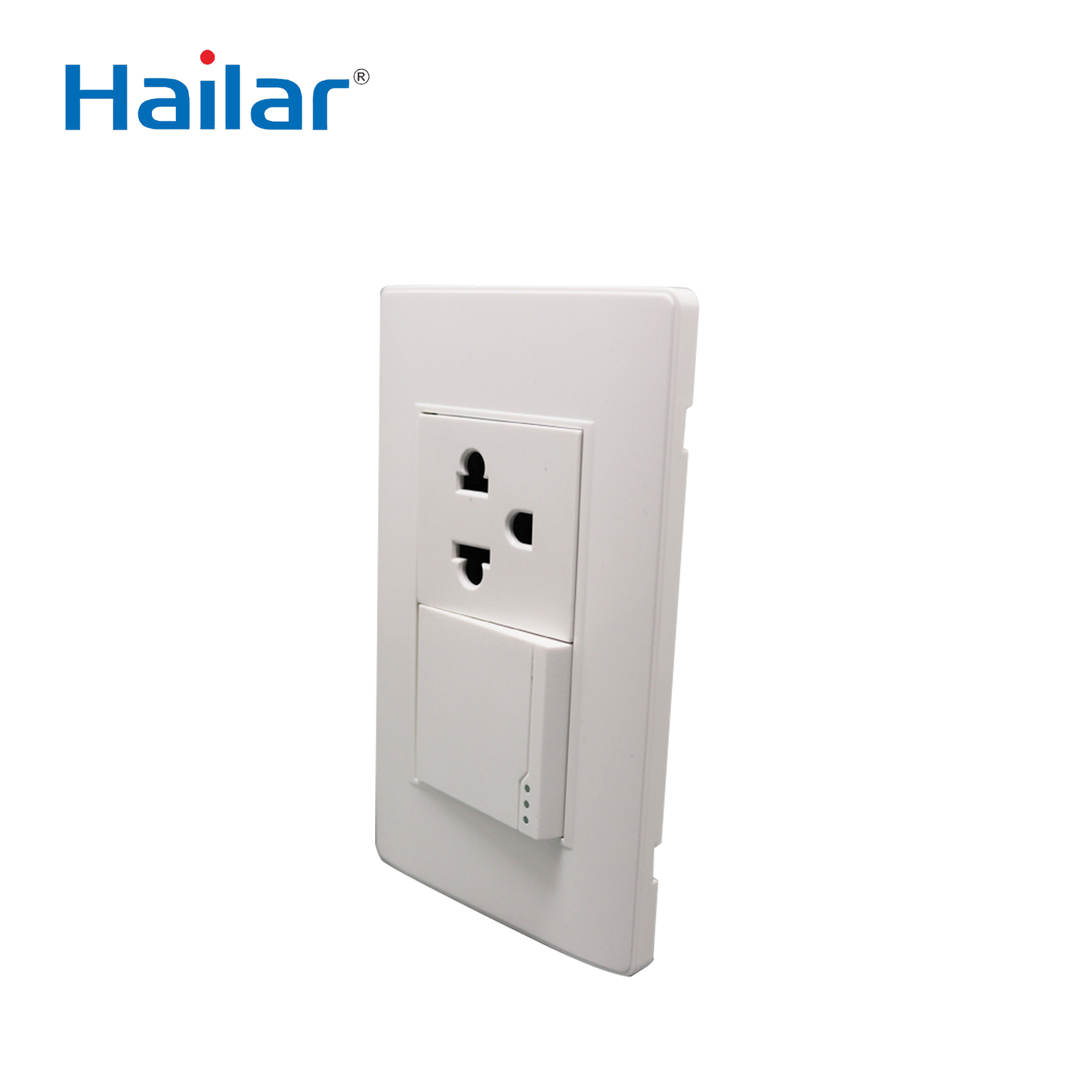 Hailer custom plastic/metal us <strong>standard</strong> oem electric wall switch <strong>socket</strong> 220v opal <strong>bs</strong>