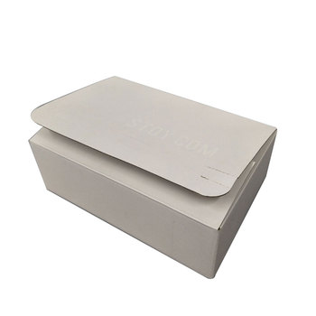 Custom white gift box fpr packaging with partial UV printing