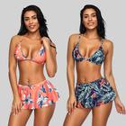 2019 New Arrivals Floral Print Sexy Swimwear Split 2 Piece Set Girls Sexy Brazilian Bikini