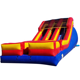 Double lane inflatable water slide blue red and yellow for summer