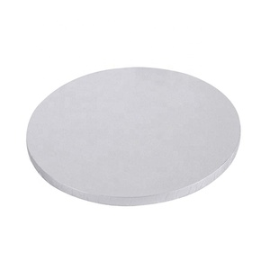 White Foil MDF cake board cake drum with Round shape