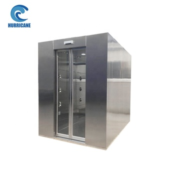 Industrial GMP fixed / constant temperature and humidity Cleanroom Air Shower Room with Automatic Rotatable Nozzle