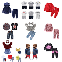 New Arrival trendy three pieces kids clothing boys gentlemen sets girls clothing colorful sets with Chinese manufacturer