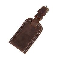 OEM Factory Supply Travel Accessories Soft Genuine Leather Luggage Tag