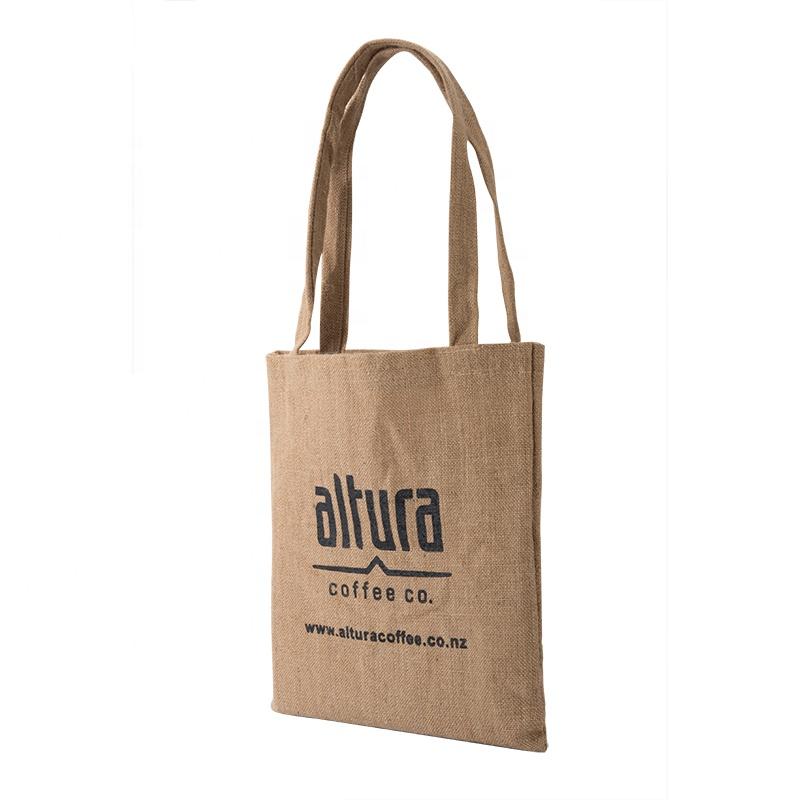 212eed153 Promotional Biodegradable tote Custom logo personalized large natural hemp  rice bag jute shopping bags