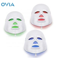 LED Face Mask 7 Color Photon Light Therapy Facial Skin Care System Anti-Aging Tightening Toning Wrinkle Acne Treatment