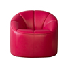 European Style Beauty Spa Equipment Red Top Grain Full Leather Luxury Lounge Chair