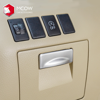 Mcow Custom ABS Car Interior Accessories Left Storage Box Switch Button Cover Trim Used For Highlander 2015-2019