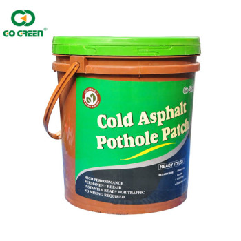 Go Green cold patch for road pothole repairing with high quality cold mix asphalt repair material
