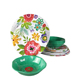 Promotional awesome rustic floral textured melamine dinner set