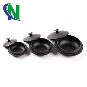 European Cookware Sets Cast Iron Korean Stone Bowl (Dolsot), Sizzling Hot Pot for Bibimbap and Soup