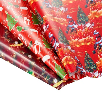 Gift wrapping paper roll custom printed metallic gift wrap paper manufacturer