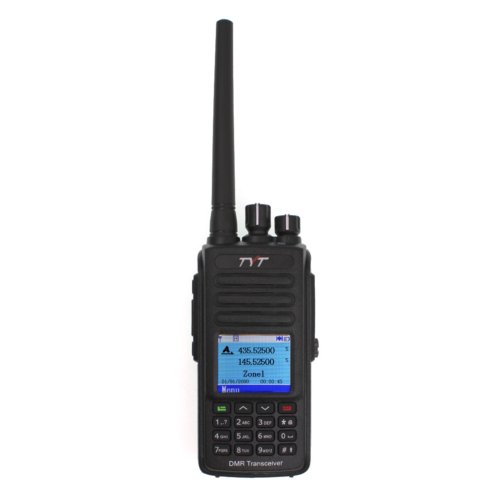 MD-UV390 IP67 digital walkie Talkie TYT dual band transceptor de rádio DMR MDUV390 dual slot de tempo