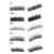 3d mink eyelashes 5 magnets magnetic eyelash with magnetic eyeliner