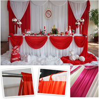 Wedding Supplies of Red and White Fall Backdrop for Indian Wedding Favors