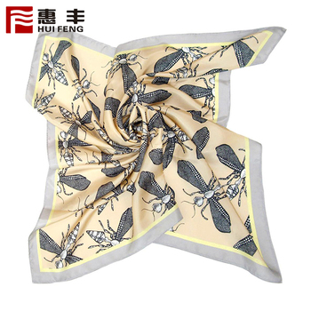 Manufacturers Custom Logo Head Silk Scarf Own Design ,Scarf Print Silk