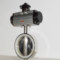wafter type pneumatic food grade sanitary pneumatic butterfly valve