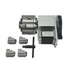 hollow shaft Rotary axis K5M-6-100 100mm 3 jaw 4 jaws chuck CNC 4th Axis CNC dividing head
