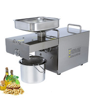 Stainless steel cold mini coconut oil press machine oil extraction machine