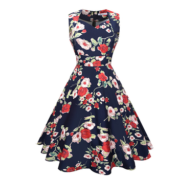 Verano Vendaje Grande Faldas Swing Audrey Hepburn Vestido Vintage Rockabilly Retro 60 S 70 S 80 S Flores Vestidos Para Las Mujeres Buy Vestidos De