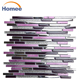 new design backsplash mosaic tile / latest purple tiles mosaic / wholesale stone mosaic