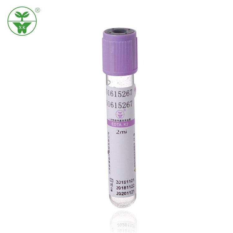 Whole Purple Color Cap Vacutainer EDTA K3 Blood Collection Tube