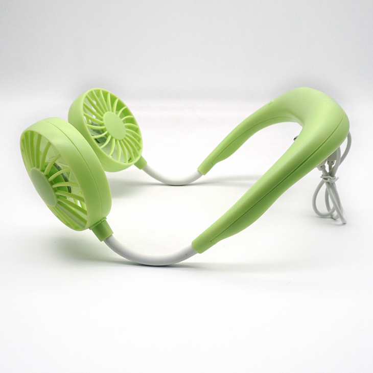 2020 Hands-free Mini Portable USB Rechargeable Outdoor Sports Lazy Hanging Neck Band Portable Fan