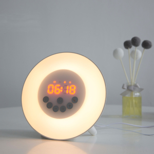 Factory Price Sunrise simulation Alarm Clock,Wake Up Light with 7 Nature Sounds, FM Radio, Touch Control