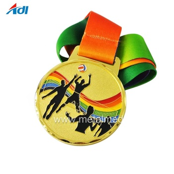 2018 volleyball custom gold high quality  sport medal