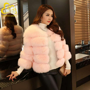 New Imitation Fur Coat Slim Short Fox Fur Stitching Factory Direct Women Fur Coat