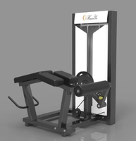 commercial pin loaded gym equipment horizontal leg curl machine