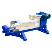 Screw sludge dewatering machine for waste recycling dehydration