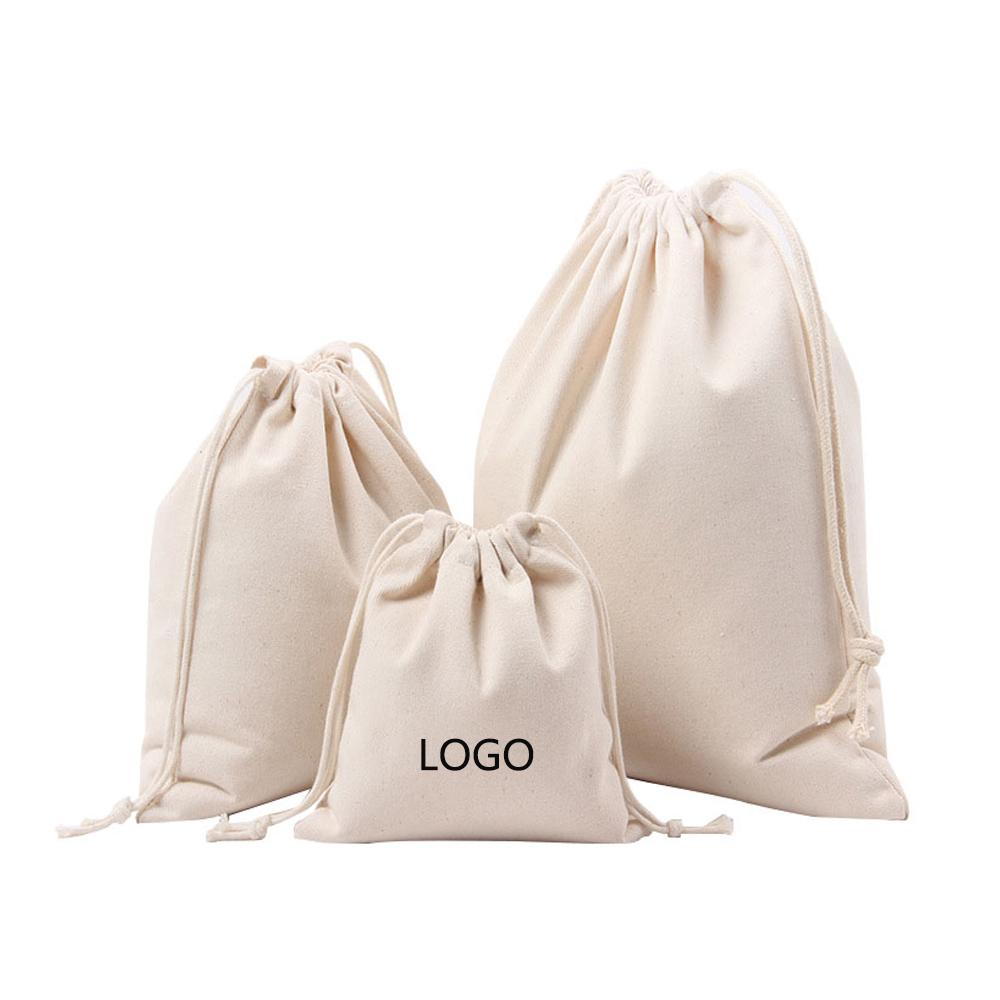Заказная печать органический заказной муслиновый мешок хлопок мешок шнурка Малый