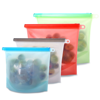 Kitchen accessories BPA free eco friendly ziplock leakproof freezer bags snack reusable silicone food storage bag