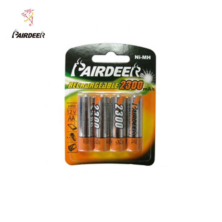 PAIRDEER private label HR6 nimh bateria recarregável aa