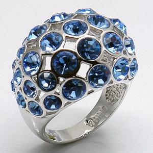 White Gold Plated Top Quality Sapphire Crystal Ring For Women