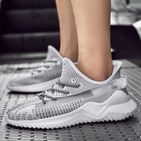 New Trendy Men Fashion Soft Sport Shoes Factory,Name Brand Sneakers Shoes For Men,Men Knit Sneakers Casual Shoes