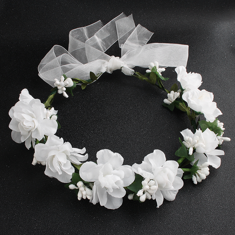 Provided Women Girl Headwear Big Flower Wreath Crown Headband Floral Holiday Garlands Hair Band Accessories Red White Purple Numerous In Variety Girls' Baby Clothing Mother & Kids