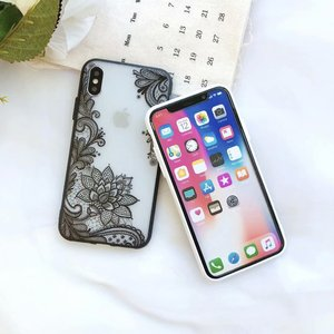 Vintage Sexy Floral Lace TPU PC Embossed 2 in 1 3D Phone Case for iPhone 6 6S 7 8 Plus X XR XS MAX for Samsung S8 S9 Plus