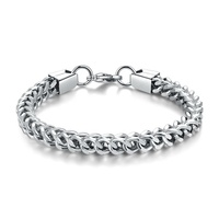 Factory Directly Simple European Popular Mens Wholesale stainless steel silver color Chunky curb Chain Bracelet women
