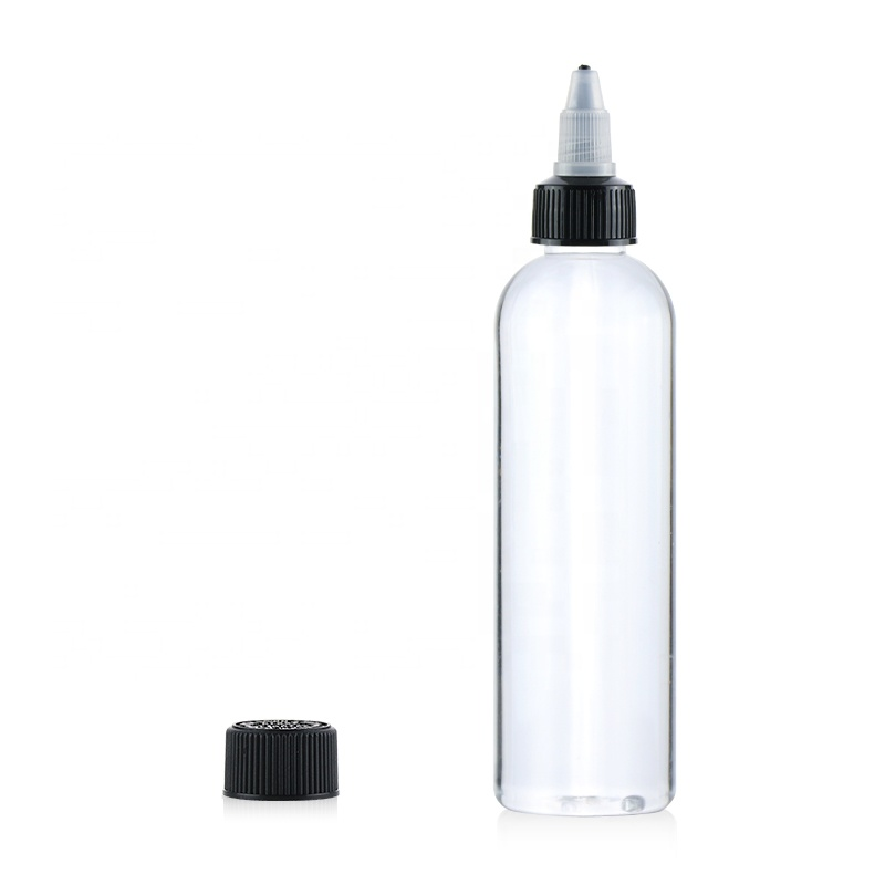 1oz 2oz 3oz 30ml 60ml 120ml 135ml soft hair oil dye squeeze applicator packaging bottle with twist-open dispensing cap