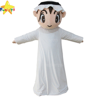 Funtoys CE Customized Arab boy Cartoon Cosplay Mascot Costume For Adult