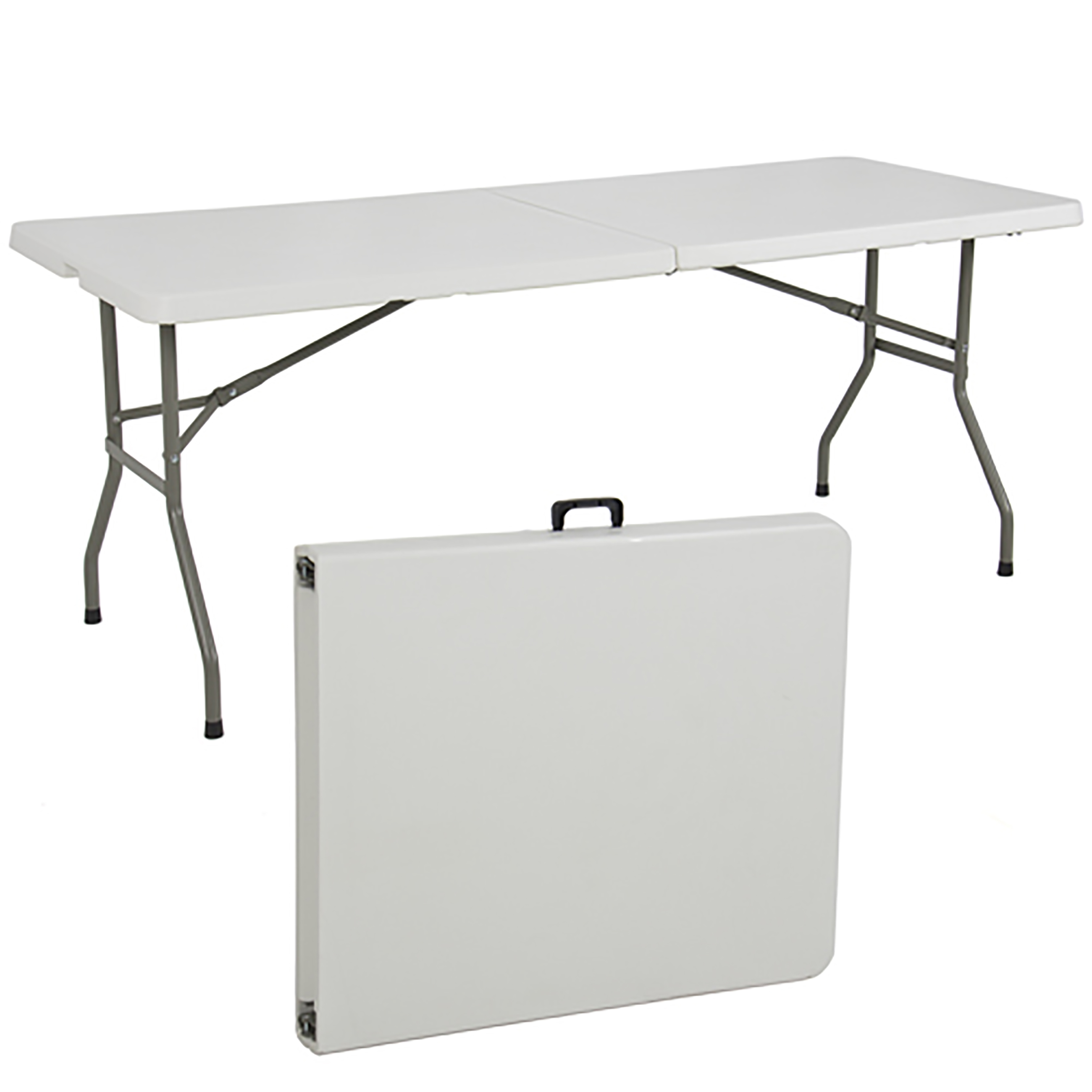 6ft White Plastic Folding Table